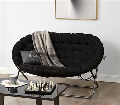 Papasan Dorm Sofa Black Dorm Room Furniture Dorm Chair