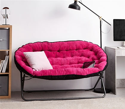 Papasan Dorm Sofa Pink Dorm Seating College Futon Dorm