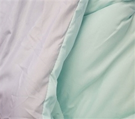 Calm Mint/Gray Reversible College Comforter Twin Extra Long Dorm Bedding