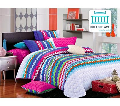 Rainbow Splash Twin Xl Comforter Set College Ave