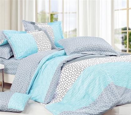 Dove Aqua Twin Xl Comforter College Ave Designer Series