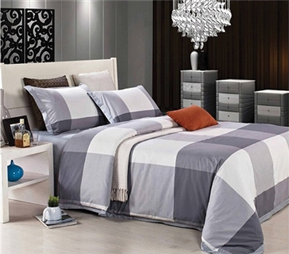 Cityscape Gray Twin Xl Comforter Set College Ave Designer Series Best Bedding Set For College