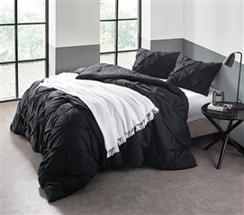 Black Pin Tuck Twin XL Comforter Part 62