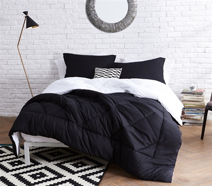 Black White Reversible Twin Xl Comforter