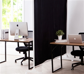 Privacy Room Divider Black Fabric Part 50
