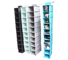 Merveilleux Donu0027t Lose Shoes   Vibrant 10 Shelf Shoe Organizer   Bright And Fun! Hanging  Shoe Shelves ...