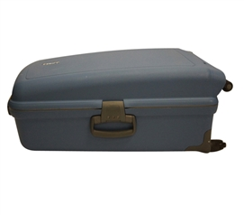 FL-J Suitcase Trunk - Slate Blue Storage Trunk for College