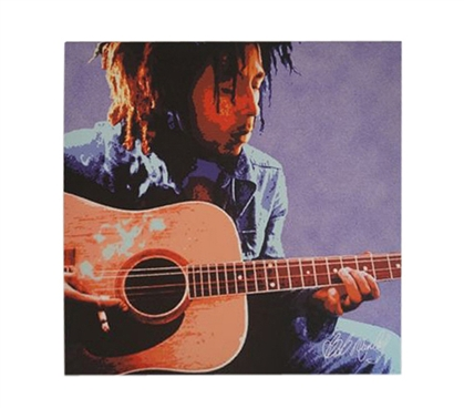 Bob Marley Acoustic Guitar Wall Canvas