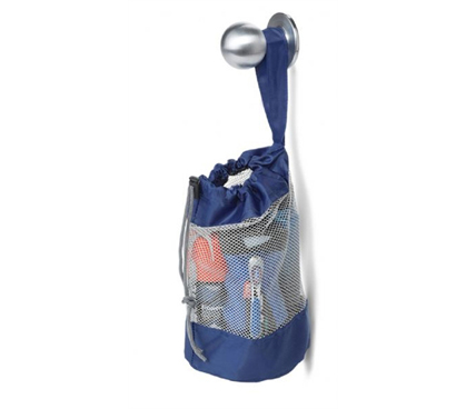 Hanging Dorm Shower Caddy Blue Showing College Totes