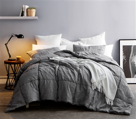 alloy blended textured quilt single tone twin xl
