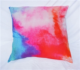 Delicieux Watercolor   Pink   Cotton Throw Pillow