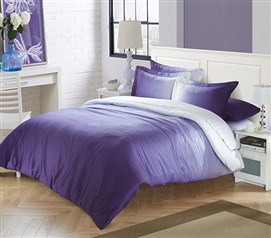 ombre purple twin xl comforter with invisible tacking - Twin Xl Comforters