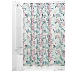 Josie Fabric Shower Curtain   Mint/Lavender