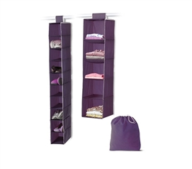 3 Piece College Closet Set   Eggplant   Keep Your Dorm Room Clean And  Organized