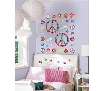 Tie Dye Peace Peel N Stick Dorm Wall Decor College Girls