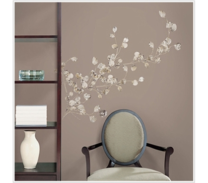 Silver Dollar Branch Peel N Stick Dorm Decor College