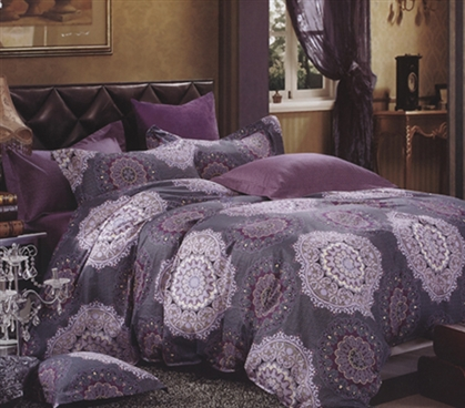 Soft Dorm Bedding Purple College Comforter Extra Long Twin