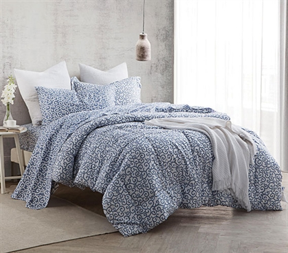 Gray College Comforter Designer Patterned Extra Long Twin
