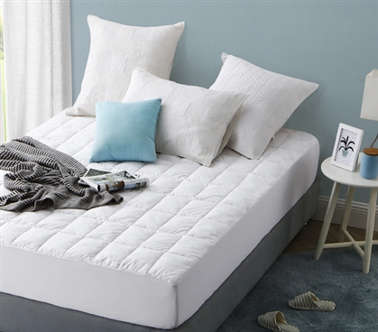Featherbed Mattress Pad Twin Xl Dorm Bedding Topper