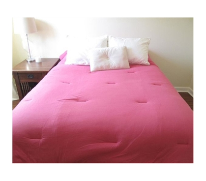 Jersey Knit Twin Xl College Comforter 100 Cotton Pink