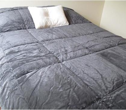 Edredon Bob Marley.College Plush Comforter Charcoal Twin Xl