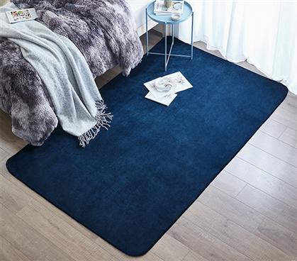 Microfiber Dorm Rug Navy Blue Is An Affordably Cheap Dorm