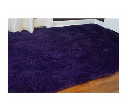 College Plush Rug Downtown Purple Cheap Carpet Floor