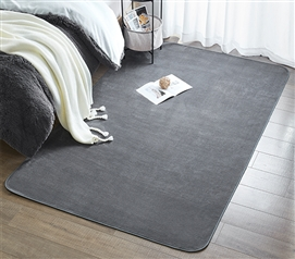 Exceptional Must Have Dorm Item   Microfiber Dorm Rug   Steele Gray   Keep Floors Soft Part 32