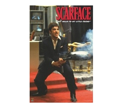 Scarface Machine Gun College Dorm Poster Fun Movie