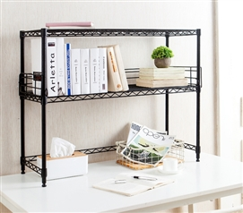 Suprima Desktop Metal Bookshelf   Black