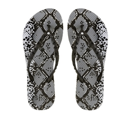 c6d652df62d0 Showaflops - Women s Antimicrobial Shower Sandal - Silver Snakeskin with  Rhinestones