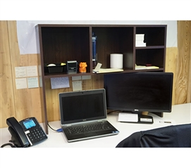 The College Cube   Dorm Desk Bookshelf   Dark Wood Dorm Essentials College  Supplies Part 55