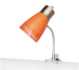 Aglow Dorm Clip Lamp - Orange Must Have Dorm Room Gadgets